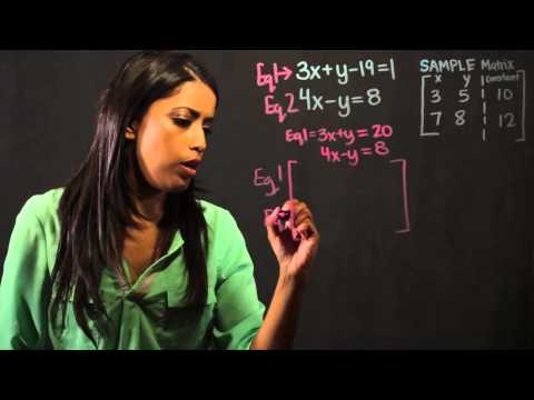 How to Use Matrices to Solve Linear Equations : Math Fundame