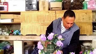 Passo a passo Arranjo com flores Artificial