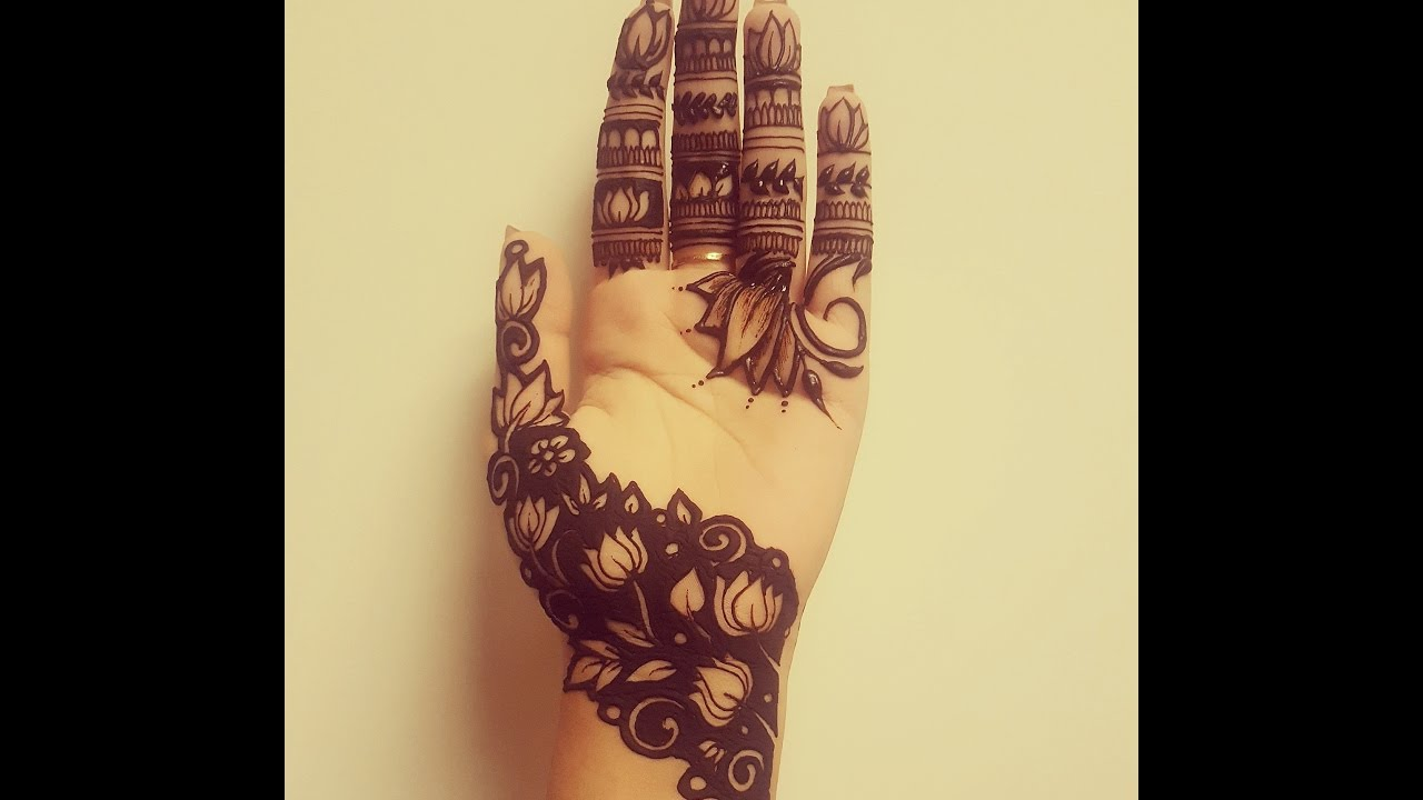 New negative space henna design youtube for It design