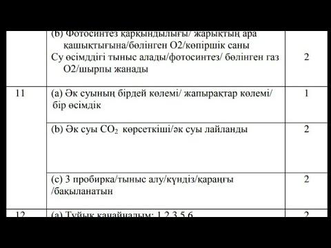 биология тест жауаптарымен 11 сынып