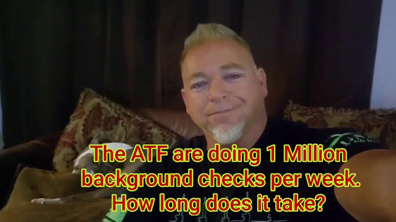 ATF Background Check, How Long it takes. JP Enterprises AR15 Rifle. 4 Million firearms sold in July.