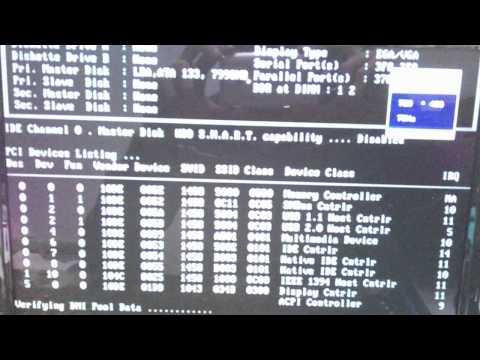 Boot Windows XP SSD IDE Transcend