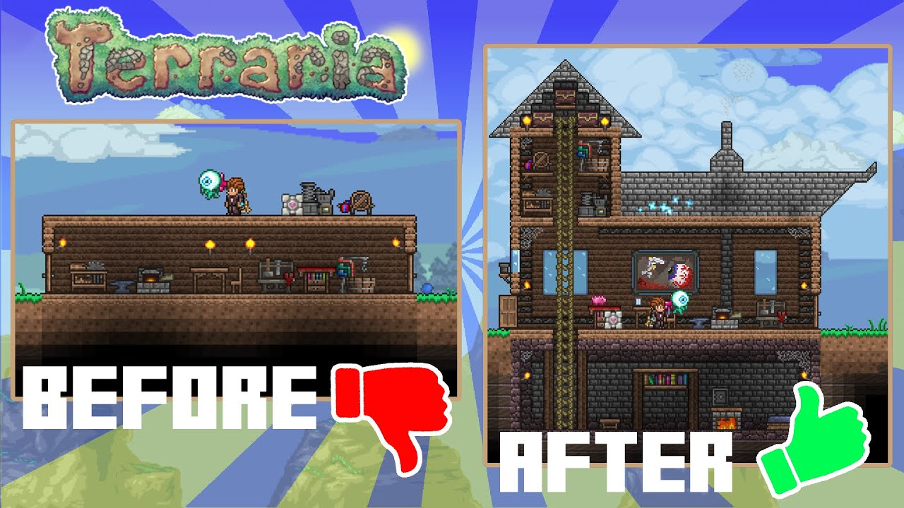 Terraria how to improve your starter house looks