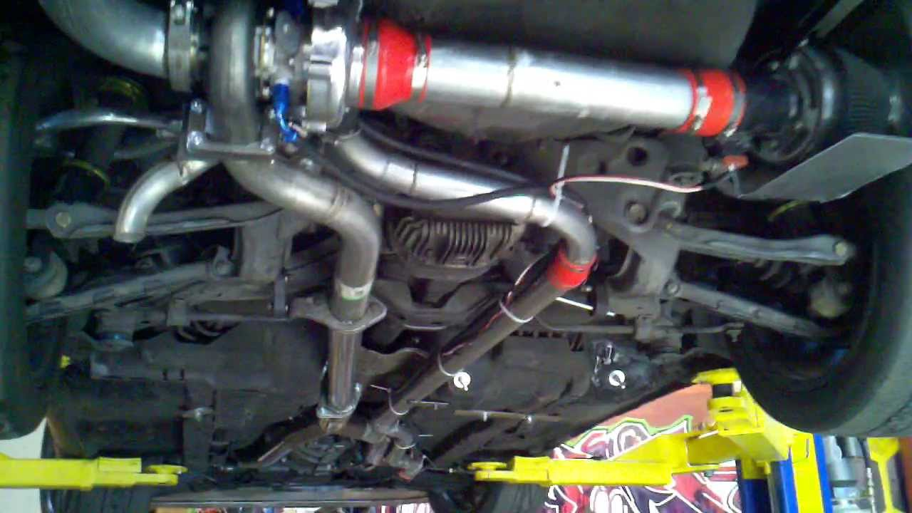 300zx Rear Turbo Setup 7psi 320rwhp Youtube