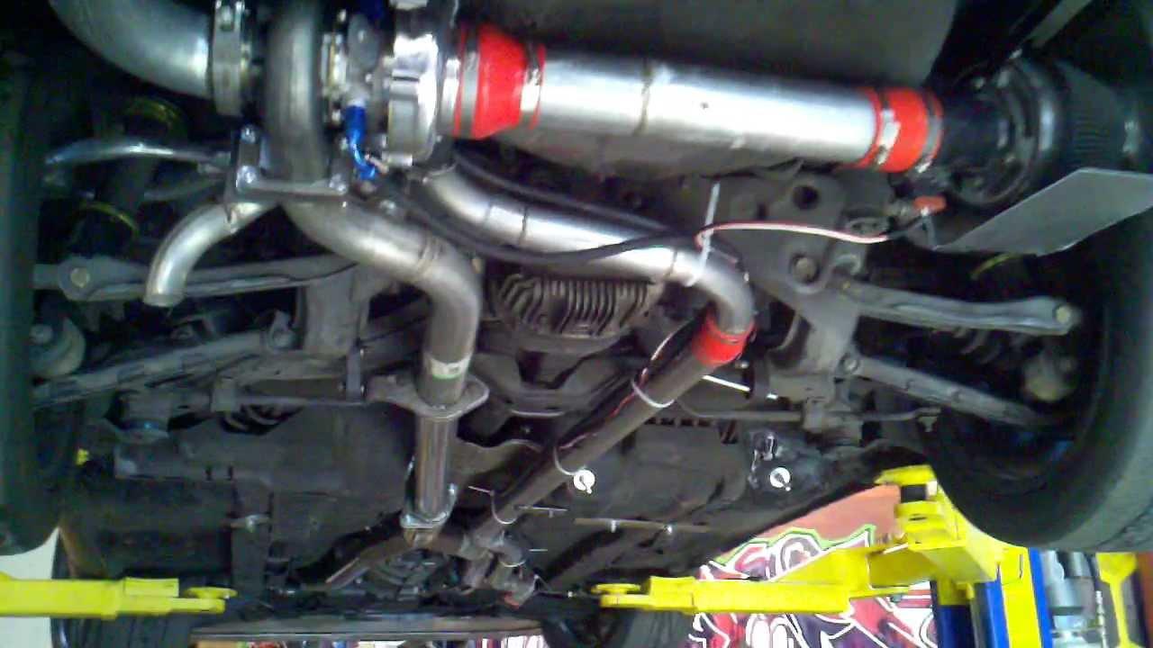 300zx Rear Turbo setup  7psi 320rwhp  YouTube