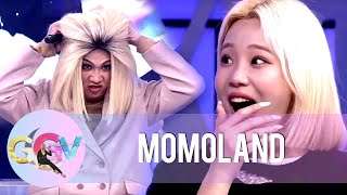 Momoland gets shocked when Vice Ganda tries to remove his wig | GGV