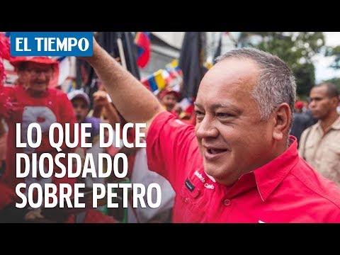 Diosdado Cabello dice que Petro pidió a Venezuela plata para su campaña