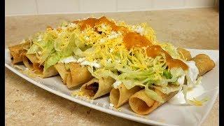 How to make Rolled Tacos (Taquitos / Flautas Recipe)