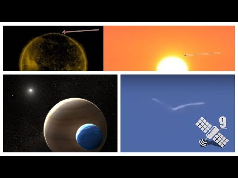 Xlua encontrada - Entidades Biológicas no céu - NASA e observador fotografam ovni no sol