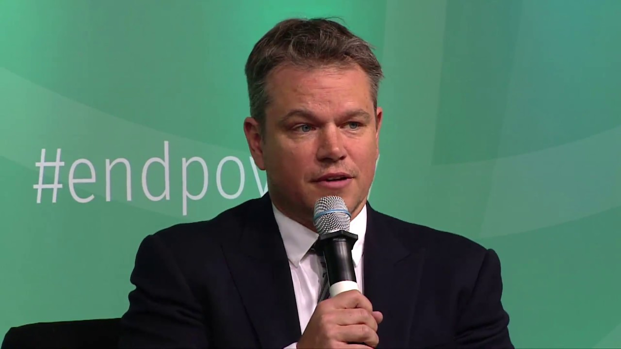 Matt Damon habla sobre agua y saneamiento y el impacto en la vida de las niñas