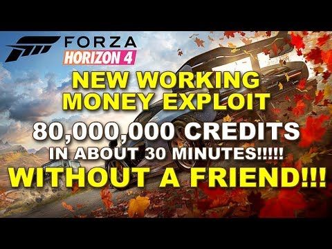 """80,000,000cr in about 30 mins using """"ONE CONSOLE"""" on Forza Horizon 4! Working Credit Exploit! thumbnail"""
