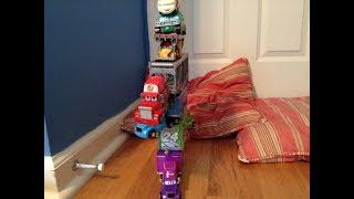 Disney Cars Diecast Stacking Challenge!