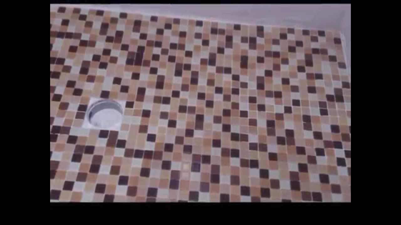 sustitucin plato de ducha de porcelana por plato de ducha de obra acabado gresite vidrio parte