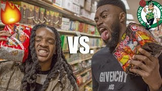 EXTREME SPICY RAMEN NOODLE CHALLENGE!! ft. Jaylen Brown