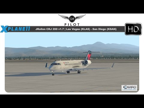 X Plane 11] JRollon CRJ 200 | KLAS KSAN | w/ BSS Sound Pack and