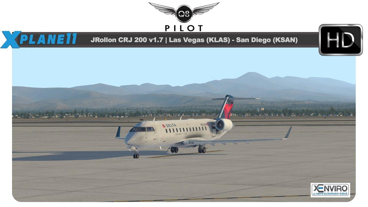 [X Plane 11] JRollon CRJ 200 | KLAS KSAN | w/ BSS Sound Pack and xEnviro by  Q8Pilot