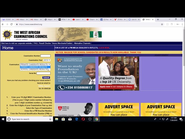 WAEC result 2019: Release date and how to check for the