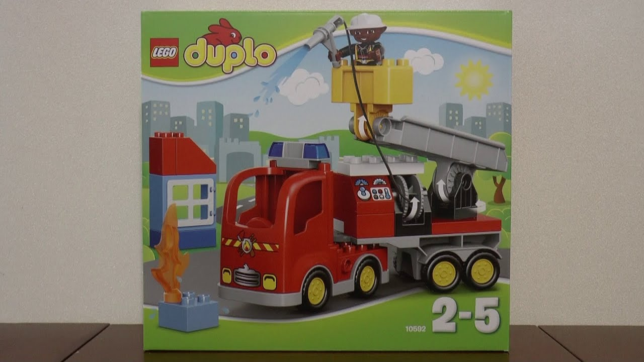 Lego Duplo 10592 Wóz Strażacki Youtube
