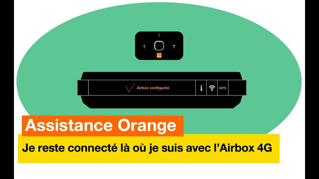 assistance orange je reste toujours connect l o je suis avec l 39 airbox 4g orange youtube. Black Bedroom Furniture Sets. Home Design Ideas