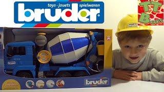 ? BRUDER Бетономешалка. Игрушки для детей. Видео для мальчиков / Concrete Mixer video for children ?