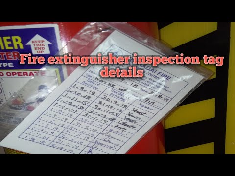 Fire Extinguisher Inspection Tag Knowledge