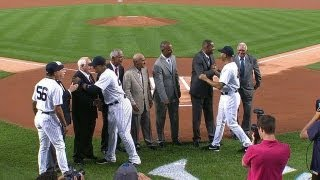 Yankees honor Latino Baseball Hall of Famers