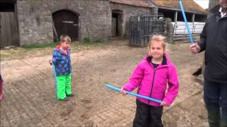 Friends with children down on the farm. Part 1