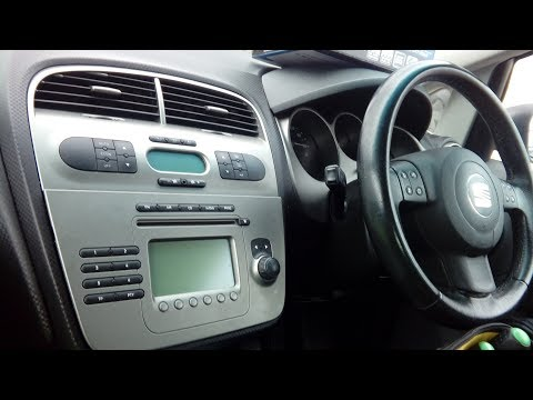 Seat Altea 2004 onwards how to remove radio,simple guide + part numbers for upgrading