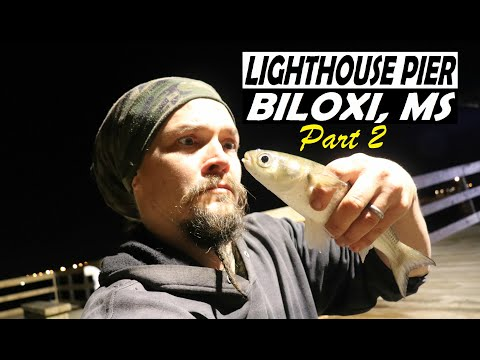 Lighthouse Pier Fishing Part 2 Biloxi Ms Youtube