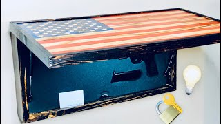 How To Build A Wooden Concealed American Flag With Lights/Locks/Struts |DIY|
