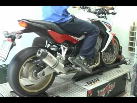 honda cb 650 f 2014 stock vs mivv oval carbon cap full system youtube. Black Bedroom Furniture Sets. Home Design Ideas