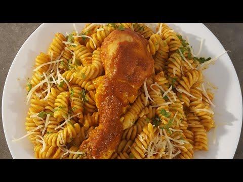 recette-de-pate-au-poulet-sauce-tomate-(-recette-facile-)