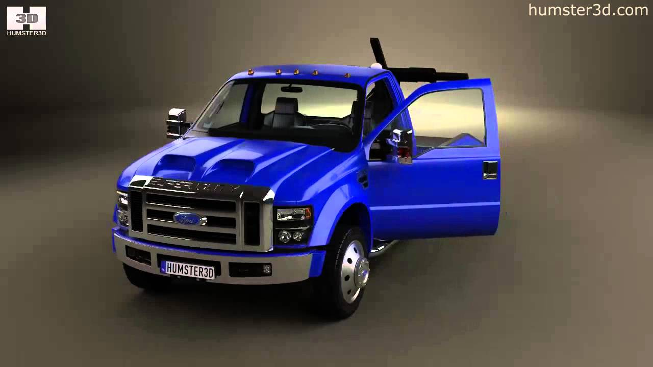 Ford Super Duty >> Ford Super Duty F-550 Tow Truck with HQ interior 2005 by 3D model store Humster3D.com - YouTube
