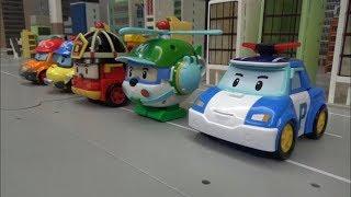 로보카폴리 5대 자동차 장난감 로봇 변신 Robocar Poli 5 Car Toys Robot Transformation