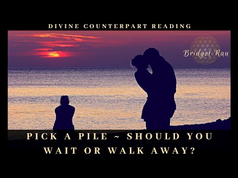 Pick A Pile ~ Should You Wait Or Walk Away? Divine Counterpart Reading