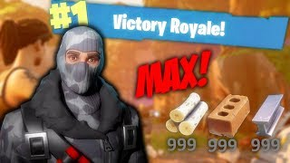 All Resources Maxed Win!! - Fortnite Battle Royale