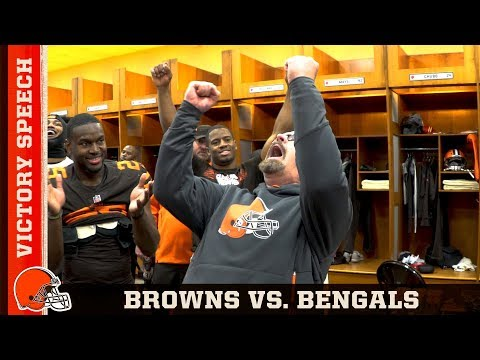 Gregg Williams' Victory Speech vs. Bengals (Week 16) | Cleveland Browns