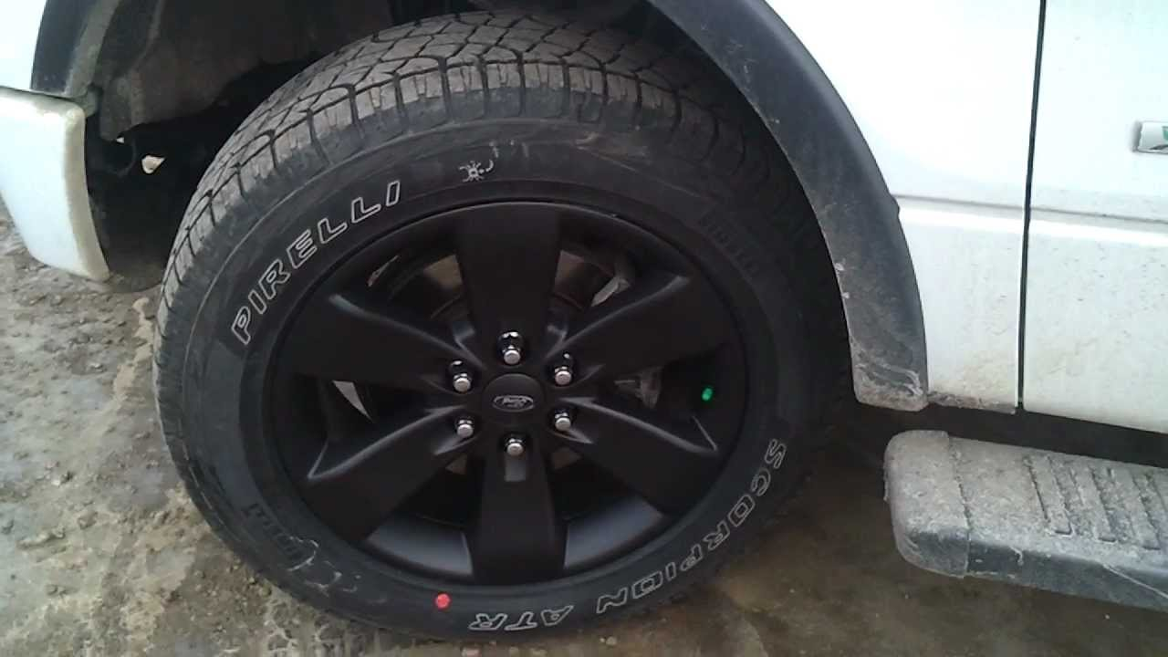 2011 Fx4 F150 Ecoboost 20 Quot Plasti Dipped Wheels Youtube