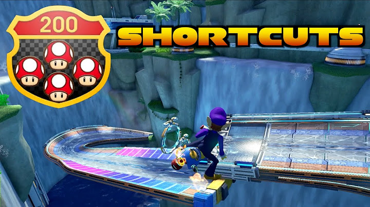 mario kart 8 deluxe  all 200cc shroomless shortcuts