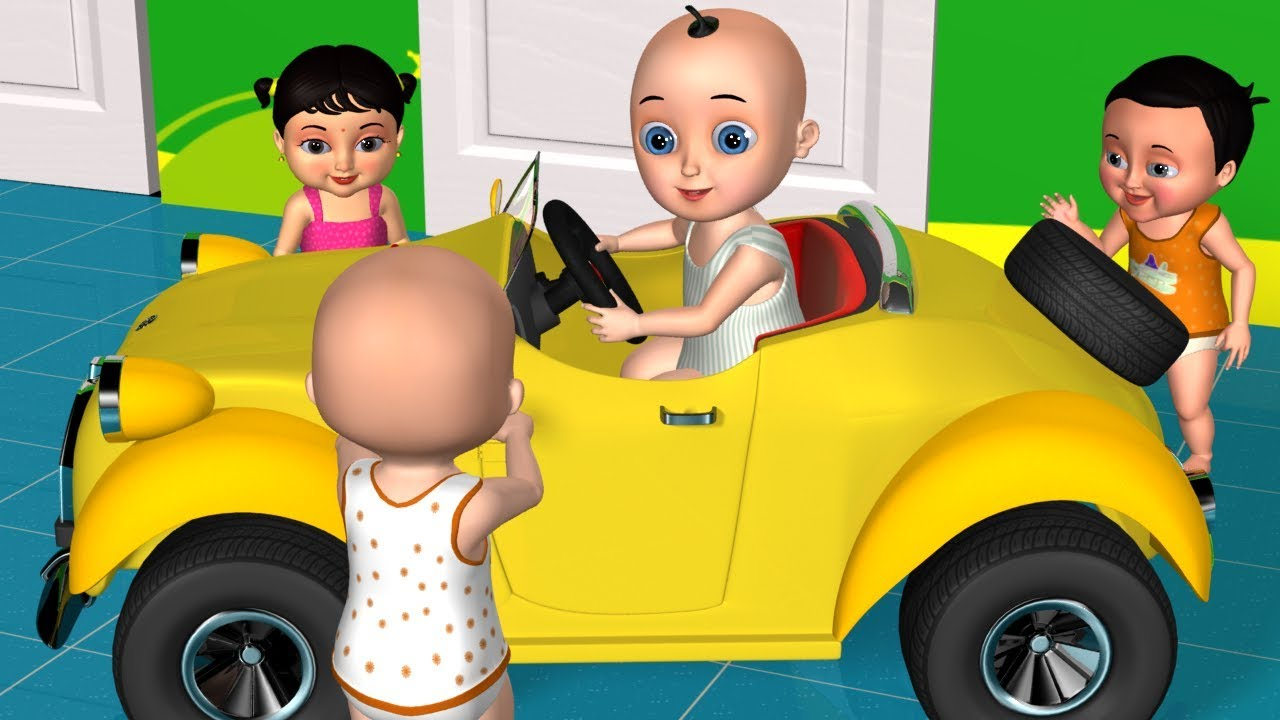 We are in the Car | Driving in My Car Song - 3D Nursery Rhymes & Kids Songs