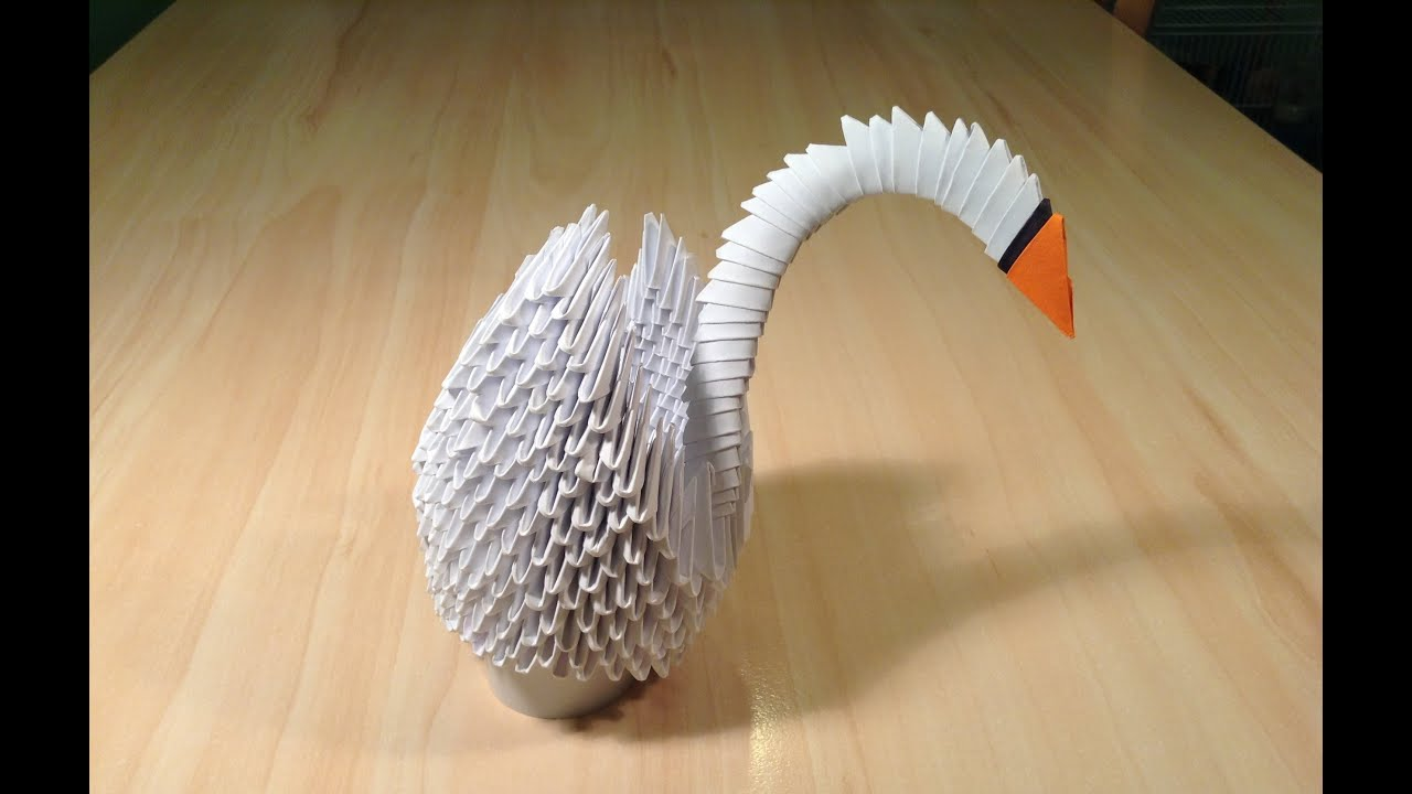 3D Origami Swan Tutorial HD (for beginners) (part 2) ᴴᴰ ... - photo#47