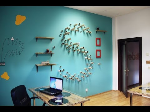 ‼️ Easy Wall Decorating Ideas DIY 2019 | Painting For Bedroom At Home | With Paper | On a Budget