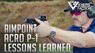 Aimpoint ACRO P-1 Lessons Learned