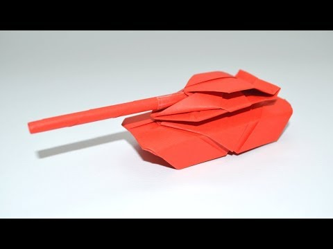 How to Make a Paper Tank - Easy Origami Tutorials