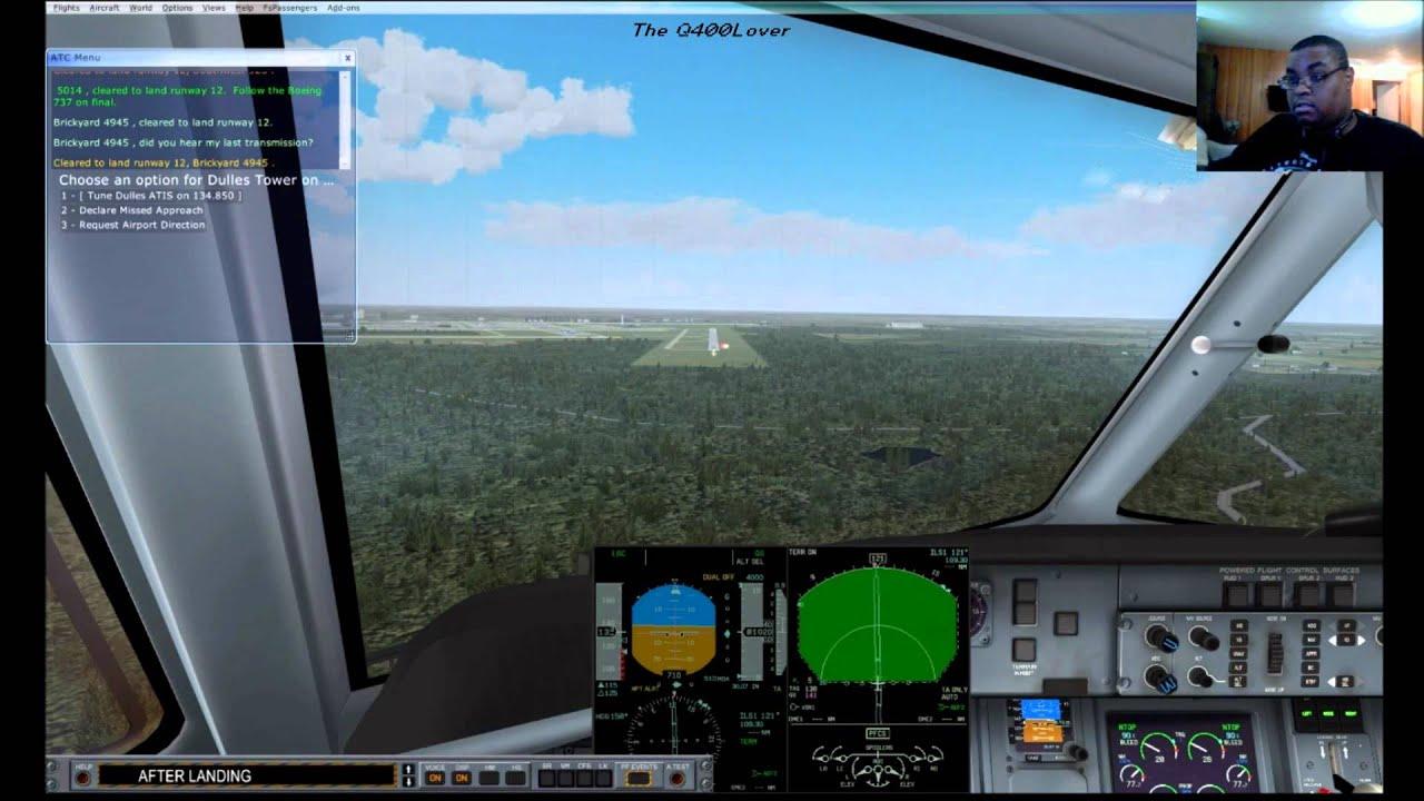 Stormy landing in KIAD in the Q-400 FSX