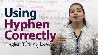 How to use Hyphen ( - ) correctly? -  English Grammar / writing lesson - 検索動画 26