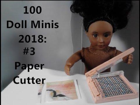 100 Dollhouse Minis Challenge: #3 DIY Paper Cutter