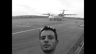 Flight HOP! A5244  from Agen to Paris Orly   ATR42-500   (GoPro view)
