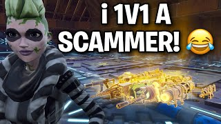 I let a scammer 1v1 ME! for his guns back 🤣👌 (Scammer Get Scammed) Fortnite Save The World