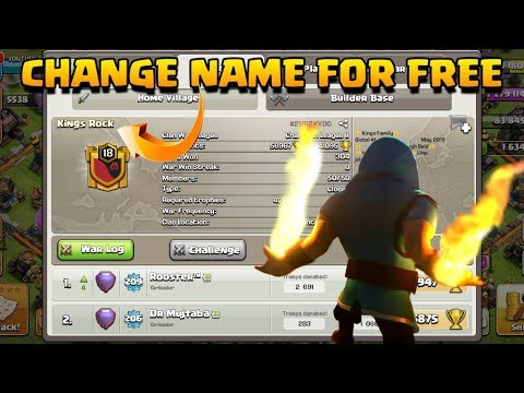 How To Change Clan Name & Profile Name In Clash Of Clans For Free Without Gem